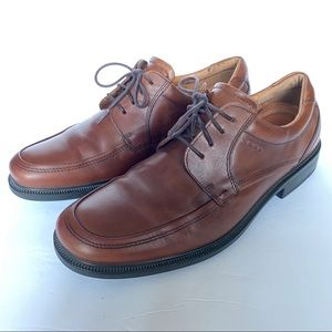 ECCO Mens 10 10.5 Shoes Mahogany Brown Leather